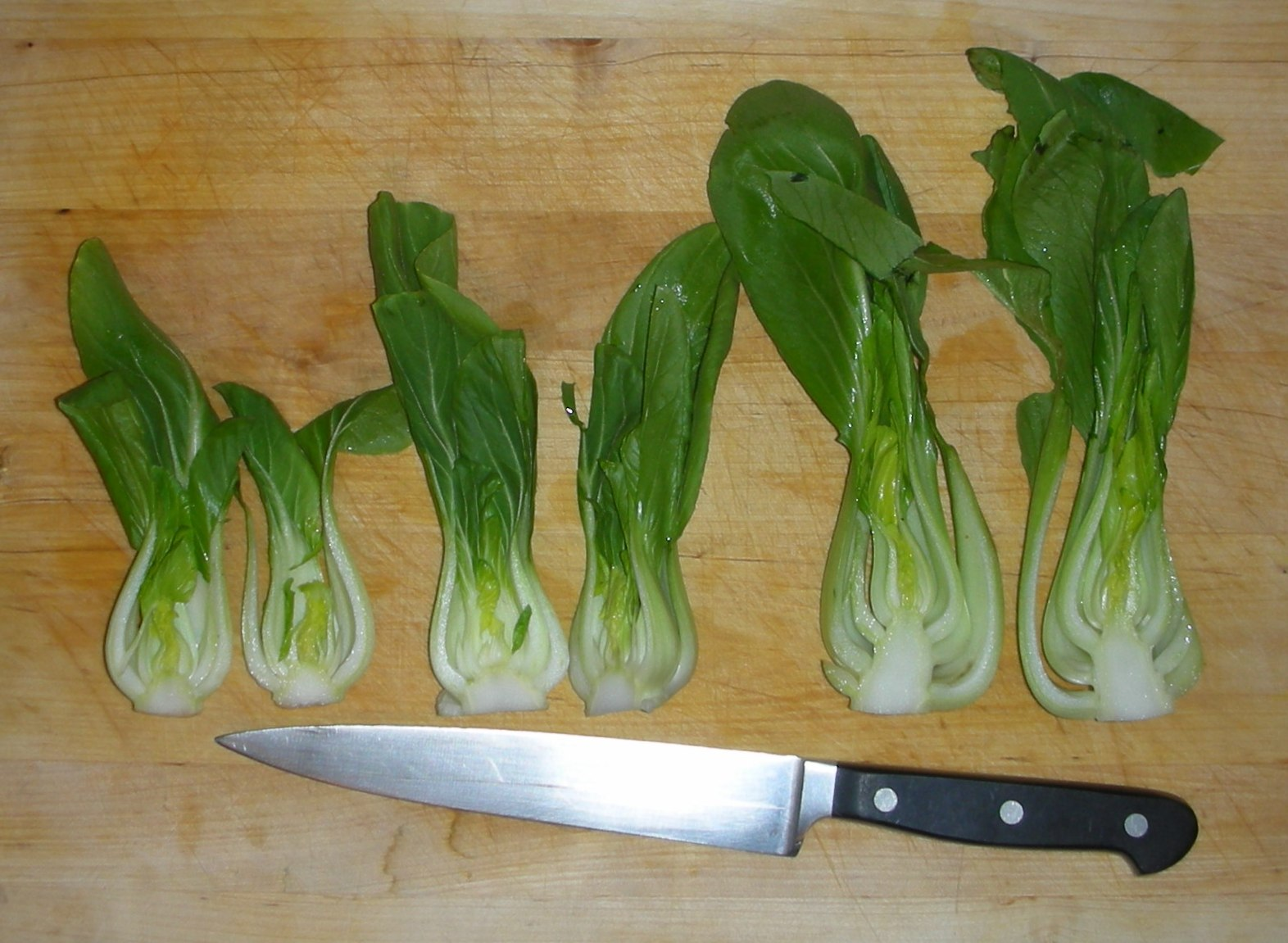 how to cut bok choy for cooking